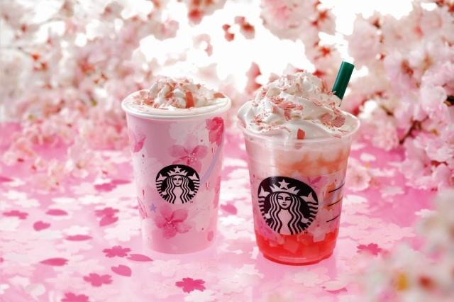 2/15(金)から満開の桜をイメージしたビバレッジが新登場!